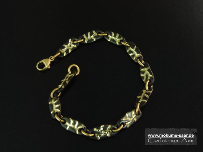 Armband im Magma-Design aus Corinthium Aes
