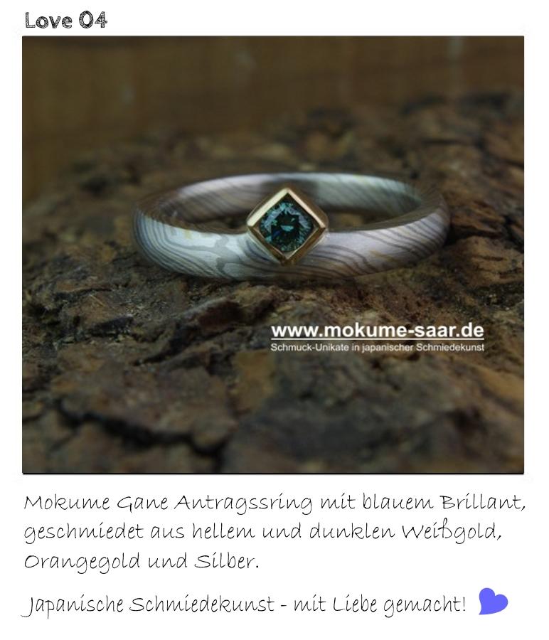 Mokume Gane Verlobungsringe Rundum Liebe